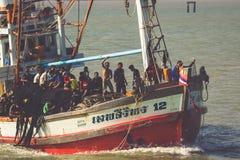Phuket,Thailand,December 8,2013: Wooden local fisher boat. Phuke Stock Photos