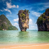 Phuket Thailand famous landmark - James Bond island royalty free stock photography