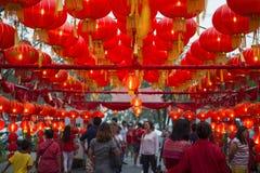 PHUKET, THAILAND - FEBRUARI 8, 2016: Chinese lantaarns Royalty-vrije Stock Afbeeldingen