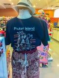 Phuket Thailand - Februari 21, 2017: Printe för Phuket turismlogo Royaltyfri Bild