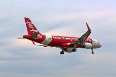 Phuket, Thailand. February 02, 2017. Air Asia Reg.HS-BBL Over Ma Stock Photography