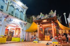 Sang Tham Shrine in 18th Phuket chinese new year day and old Phuket town Festival in Phuket, Thailand royalty free stock photography