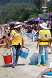 Phuket, Thailand: Food Vendors on Beach Stock Photography