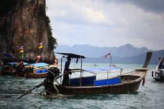 Phuket THAILAND - JANUARI 05: landskap fartyget asia för havskajakutfärden på JANUARI 05, 2015 Royaltyfria Foton