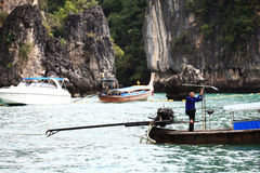 Phuket, THAILAND -JANUARY 05: landscape sea kayak excursion boat asia on JANUARY 05, 2015 Stock Photography