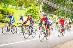 Phuket, Thailand-July 22: Cyclists group are cycling on the road Stock Images