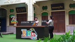 Phuket, Thailand - March 25, 2017: Phuket bird park show. stock video footage