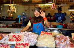 Phuket, Thailand: Muslim Woman Selling Chickens Stock Images