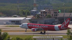 AirAsia Airbus A320 landing stock video