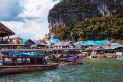 PHUKET, THAILAND, NOVEMBER 11: Sea village, Thailand, Phuket island on November 11, 2014 Stock Photo