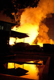 Phuket, THAILAND OCT 16: Fire in Superstore - catch fire in Supe Royalty Free Stock Image