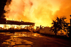 Phuket, THAILAND OCT 16: Fire in Superstore - catch fire in Supe Royalty Free Stock Images