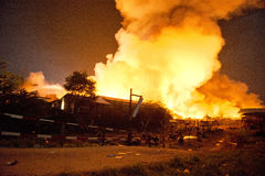 Phuket, THAILAND OCT 16: Fire in Superstore - catch fire in Supe Stock Image