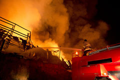 Phuket, THAILAND OCT 16: Fire in Superstore - catch fire in Supe Royalty Free Stock Photography