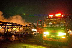Phuket, THAILAND OCT 16: Fire in Superstore - catch fire in Supe Royalty Free Stock Photo
