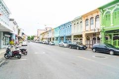 PHUKET, THAILAND - OCT 30, 2016, Phuket-stad, Thailand: Phuket ol Royalty-vrije Stock Fotografie