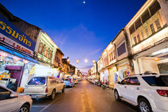 PHUKET, THAILAND - October 31, 2015; beautiful of light in old t Stock Photo