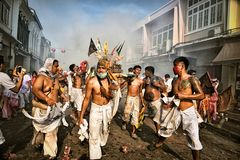 Phuket Vegetarian Festival. stock photography