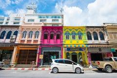 Phuket, Thailand - Oktober 12, 2017: Mooie kleurrijke oude buil Royalty-vrije Stock Fotografie