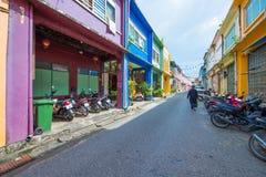 Phuket, Thailand - Oktober 12, 2017: Mooie kleurrijke oude buil Royalty-vrije Stock Foto