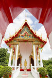 Phuket Thailand på marmortemplet royaltyfri foto