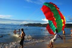 Phuket, Thailand: Paraglider Take-Off Royalty Free Stock Photos