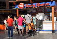 Phuket, Thailand: People at Dairy Queen Royalty Free Stock Images