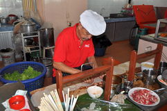 Phuket, Thailand: Thai Chef Making Spring Rolls Royalty Free Stock Images