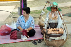 Phuket, Thailand: Thai Women Selling Eggs Stock Image