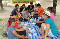 Phuket, Thailand: Thais Having Picnic Royalty Free Stock Images