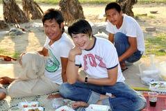 Phuket, Thailand: Thais Having Picnic on Beach Stock Photography