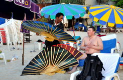 Phuket, Thailand: Vendor Selling Fans Stock Photo