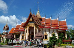 Phuket, Thailand: Wat Chalong Ubosot Stock Photo