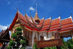 Phuket, Thailand: Wat Chalong Ubosot Stock Photography