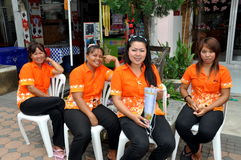 Phuket, Thailand:  Women Massage Workers Royalty Free Stock Images