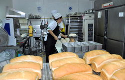 Phuket, Thailand: Workers at Bakery Royalty Free Stock Image