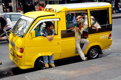 Phuket, Thailand: Yellow Tuk-Tuk Taxi Royalty Free Stock Image