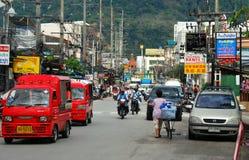 phuket tjaller vägplatsthailand thit u Arkivbild