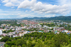 Phuket Town top view from Rang Hill Royalty Free Stock Images