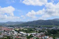 Phuket view. At Khaorang hill Stock Photography