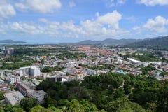 Phuket view. At Khaorang hill Royalty Free Stock Photography