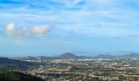 Phuket view. At  Naga hills, Phuket, Thailand Royalty Free Stock Photo