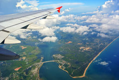 Phuket view from plane Stock Images