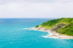 Phuket wyspy iin Thailand Morza i oceanu kolor jest błękitny Obraz Stock