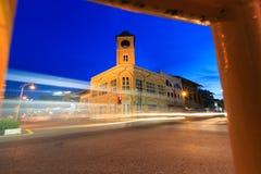 Phuket Zegarowy wierza na Mrocznym czasie obraz stock