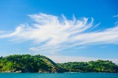 Phuketkustlijn, de Kaap van Prom Thep stock foto's
