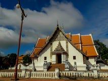 Phumin寺庙的秀丽是古庙在南 免版税库存照片