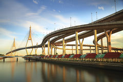 Phumipol bridge in Thailand Royalty Free Stock Image