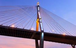Phummiphol bro i Thailand Fotografering för Bildbyråer