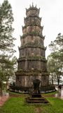 Phuoc Duyen tower in the Thien Mu Pagoda in Hue, Vietnam. Pictured is the Phuoc Duyen tower in the Thien Mu Pagoda in Hue, Vietnam. It was built in 1601 and is stock photos